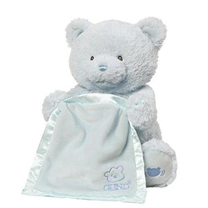 Baby Gund My First Teddy Bear Peek A Boo Animated Stuffed Animal Plush, Blue, 11.5""