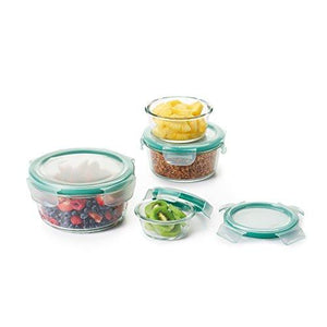Oxo Good Grips 8 Piece Smart Seal Glass Round Container Set