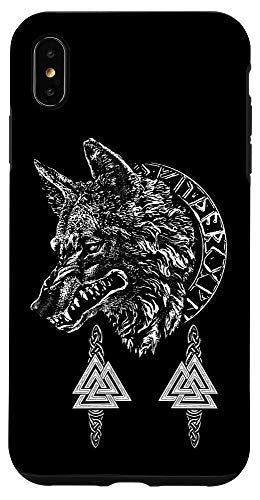 iPhone XS Max WOLF OF ODIN - NORSE MYTHOLOGY VALKNUT RUNE CIRCLE Case