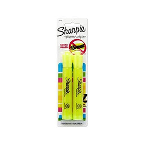 Sharpie 25162Pp Accent Tank-Style Highlighter - Fluorescent Yellow - 2-Pack