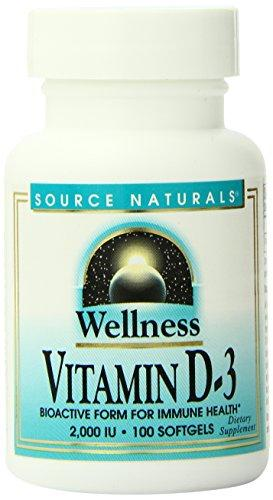 Source Naturals Wellness Vitamin D-3, Bioactive Form For Immune Health, 100 Softgels