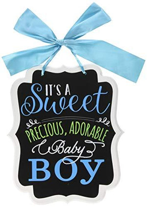 "Amscan ""It'S A Sweet Boy"" Chalkboard Sign, Blue"