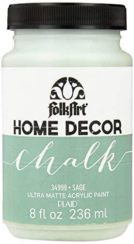 Folkart Home Decor Chalk Furniture & Craft Paint In Assorted Colors (8 Ounce), 34999 Sage