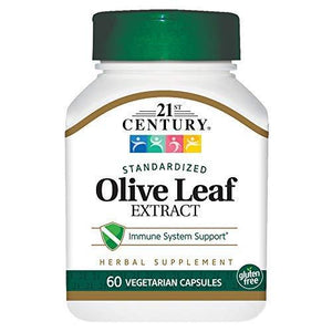 21St Century Olive Leaf Extract Veg Capsules, 60 Count