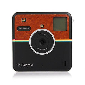 Polaroid Custom Designed Front Sticker For Polaroid Socialmatic - Matte Brown Leather Look