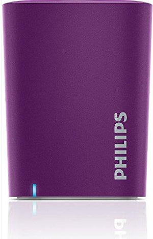 Philips Bt100V/27 Wireless Mini Portable Bluetooth Speaker, (Violet)
