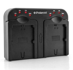"Polaroid Double (Dual) Battery Charger "" Charge 2 Batteries At The Same Time"" For The Nikon En-El14 (P7000, P7100, P7700,"