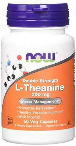 Now L-Theanine 200 Mg,60 Veg Capsules
