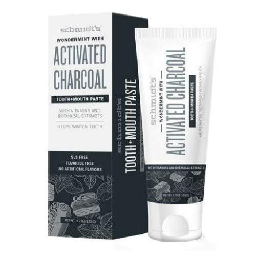 Schmidt'S Wondermint With Activated Charcoal Toothpaste, 4.70 Oz