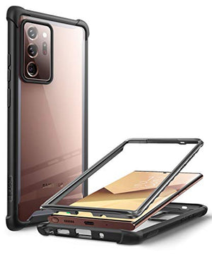 i-Blason Ares Designed for Samsung Galaxy Note 20 Ultra Case, Dual Layer Rugged Clear Case Without Screen Protector (Black)