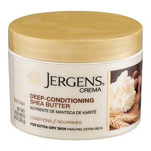 Jergens Crema Deep-Conditioning Cream, Oatmeal, 8 Ounce