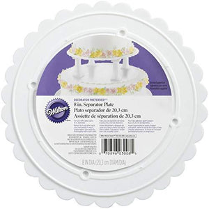 Wilton 302-8 Decorator Preferred Round Separator Plate For Cakes, 8-Inch