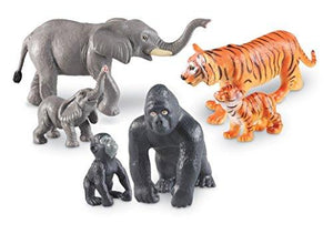 Learning Resources Jumbo Jungle Animals: Mommas And Babies, Set Of 6