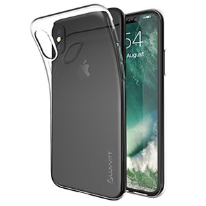 iPhone XR Case, Luvvitt Clarity Light and Slim Back Cover Flexible TPU Silicone Gel Rubber Protection for iPhone XR with 6.1 inch Screen 2018 10R - Clear