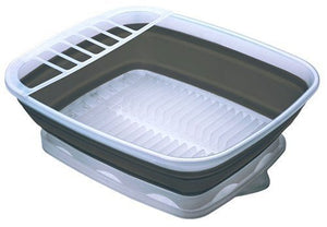 Progressive Collapsible Dish Rack With Drain Board Cdd-100 Perfect For Rv Sink Camping Dish Tub