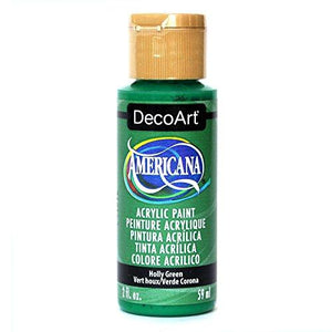 Decoart Americana Acrylic Paint 2Ounce Holly Green