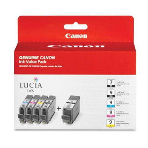 Canon Cnmpgi9Pgi7 Value Pack, Black, Cyan, Magenta, Yellow, Photo Black, Inkjet, 1 / Pack