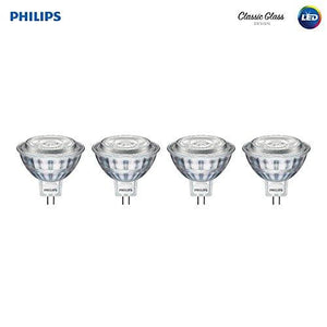 Philips 470278 50 Watt Glass Mr16 Dimmable Led Light Bulb (4 Pack) Bright White 4 Piece