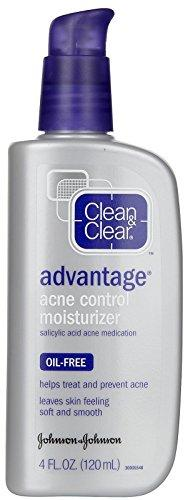 Clean & Clear Advantage Oil, Free Acne Moisturizer - 4 Oz