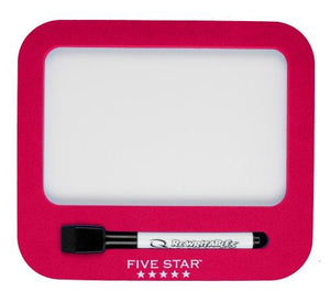 Five Star Locker Accessories, Locker Dry Erase Board, Magnetic, Red (72572)
