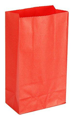 Darice 40 Piece Kraft Paper Sack, Red