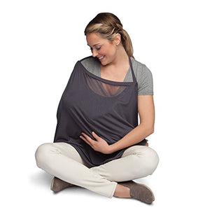 Boppy Infinity Nursing Scarf, Charcoal Gray, fashionable nursing cover for breastfeeding
