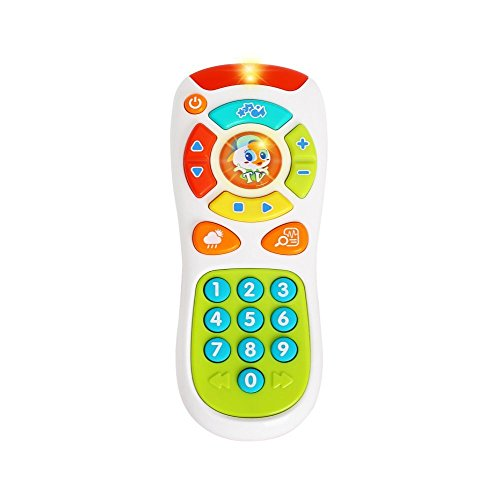 VATOS Baby TV Remote Control Toy, Baby Toys, Learning Remote Toy with Light Music for 6 Months + Baby, Learning Toys for One Year Old Baby Infants Toddlers Kids Boys or Girls