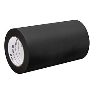 "3M Black Vinyl/Rubber Adhesive Duct Tape 3903, 6-50-3903-Black 12.6 Psi Tensile Strength, 50 Yd. Length, 6"" Width"