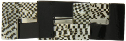Caravan Attractive Twist Combining Black And Silver-opera Into This Automatic Barrette