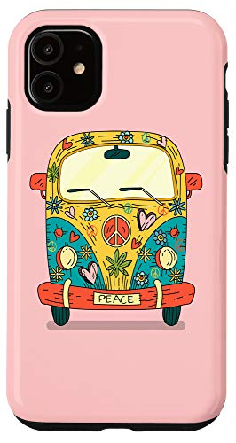iPhone 11 HIPPIE HEART Love Van 60s Retro Hippy 1960s Peace Case