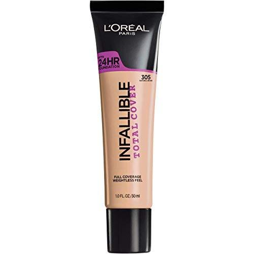 L'Oreal Paris Infallible Total Cover Foundation, Natural Beige, 1 Fl. Oz.