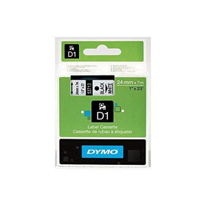 Dymo D-1 Tape - 1 Inch - Black White - 1/Box