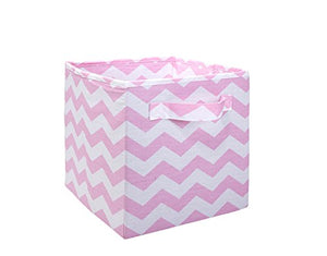 Little Love by NoJo Separates Collection Chevron Nursery Organizer, Pink/White