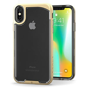 Snugg iPhone XS (2018) / iPhone X (2017) Case, [Vision Series ] Apple iPhone XS / iPhone X Case Clear Ultra Thin Lightweight Protective Bumper Cover for iPhone XS / iPhone X - Gold