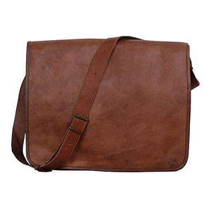 KPL 18 INCH Leather Laptop bag handmade messenger bags satchel for men and women (18 INCH)