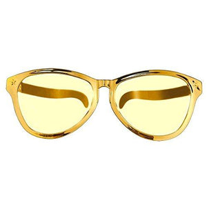 Amscan 259769.19 Summer Night Costume Jumbo Eye Glasses, One Size, Gold