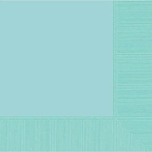 amscan 2-Ply Robin's Egg Blue Luncheon Napkins, 50 Ct. | Party Tableware