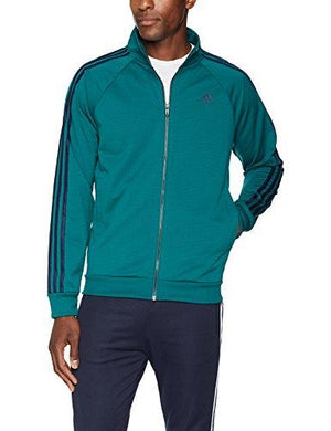 adidas Athletics Badge of Sport 3 Stripe Cotton Fleece Pullover, Noble Green, Medium