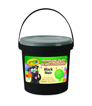 Crayola 1 Lb Bucket Black Modeling Clay, Net 14.8 Oz.