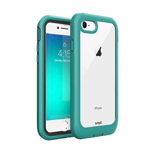 smpl iPhone 7/8/SE Drop Proof, Lightweight, Protective Wireless Charging Compatible iPhone Case - Teal (SP1240)