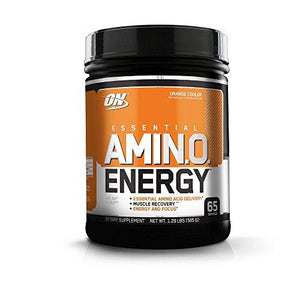 Optimum Nutrition Amino Energy, Orange Cooler, Preworkout And Essential Amino Acids With Green Tea And Green Coffee Extract, 65 Servings