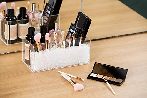 JackCubeDesign MK481A - Acrylic Makeup Brush Organizer(Clear Pearl) (Clear)