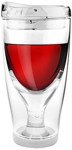 Asobu Chill Vino2Go Insulated Wine Tumbler, 10-Ounce, Clear