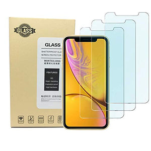 Kione iPhone XR Screen Protector, Anti Blue Light Screen Protector [ Eye Protect ] [ Touch Screen Accuracy ] [Bubble Free] Tempered Glass for iPhone Apple XR [3 Pcs] (B)