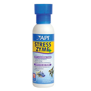 Api Stress Zyme Bacterial Cleaner, Freshwater And Saltwater Aquarium Water Cleaning Solution, 4 Oz