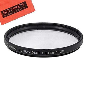 Big Mike'S 58Mm Multi-Coated Uv Protective Filter For Canon Digital Eos