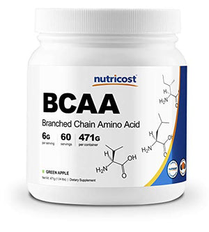 Nutricost BCAA Powder - 2:1:1 (Green Apple) - 60 Servings