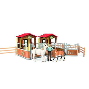 Schleich 72116 Visit In The Open Stall Play Set, Multicolor