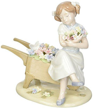 Cosmos 96651 Cuddle Me with Blossoms Ceramic Figurine, 6-1/4-Inch