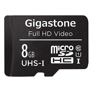 Gigastone 8GB Micro SD Card U1 C10 with Adapter, UHS-I Class 10 Full HD Video, Smartphone, Tablet, Camera, Drone, Dash Cam Compatible, 80MB/s